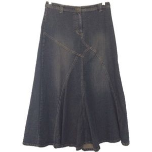 Motto Denim Maxi Skirt